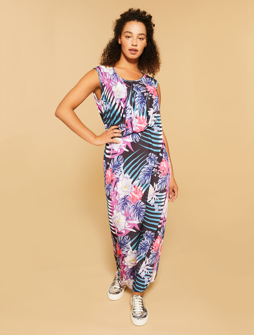 Printed interlock dress