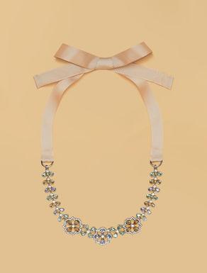 Halskette mit Strasssteinen