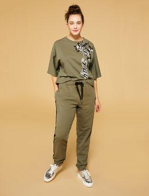 Hose aus Baumwoll-Sweatshirtstoff