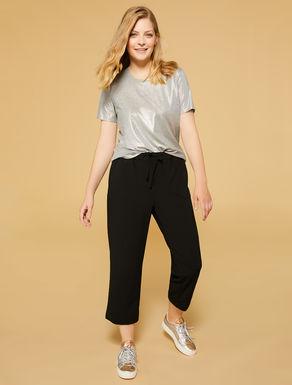 Scuba crêpe trousers