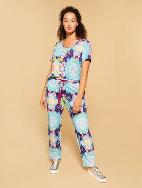 Pantalon en molleton imprimé