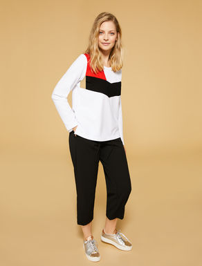 Stretch viscose sweatshirt