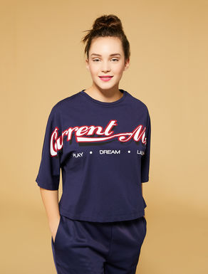 T-shirt cropped in jersey