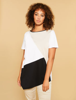 T-shirt in stretch cotton jersey