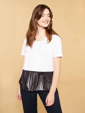 Jersey t-shirt with fringes
