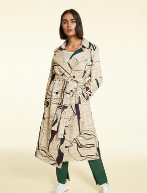 Mantel aus Lurex-Bouclé