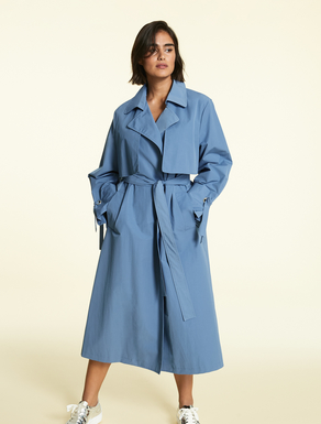 Trench coat in micro-faille