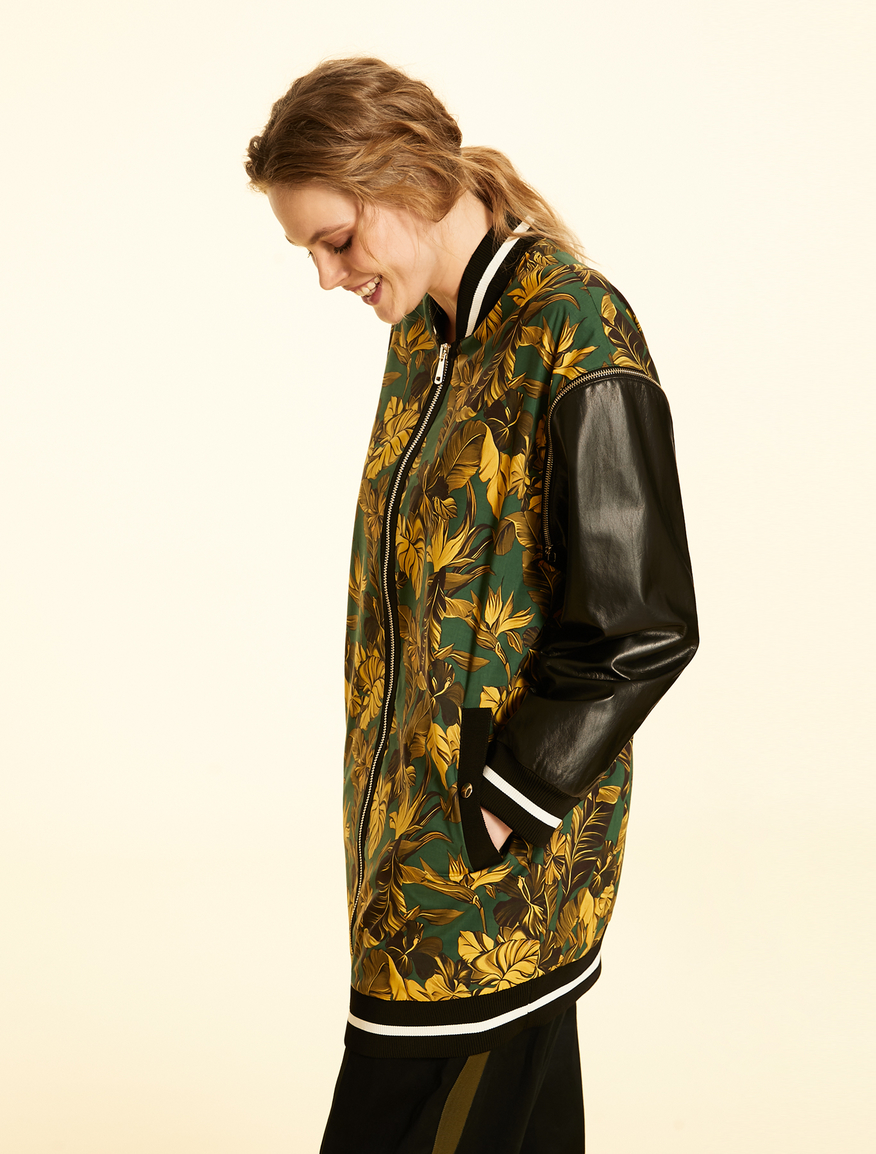 Light-weight nappa leather bomber