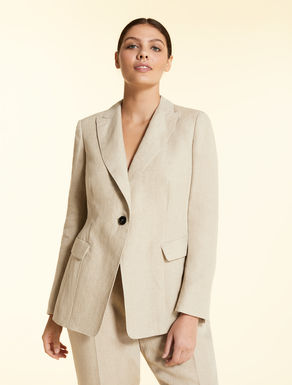 Pure linen jacket