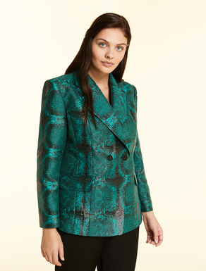 Jacket in snakeskin jacquard
