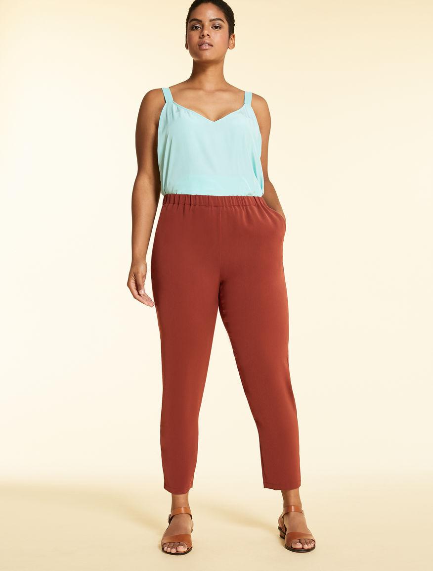 Trousers in light triacetate