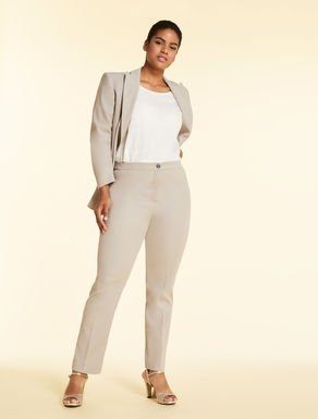 Stretch cotton crepe trousers