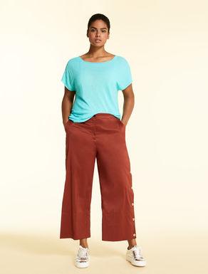 Pantalon en popeline de coton