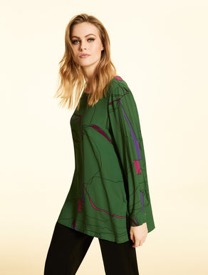 Printed viscose tunic