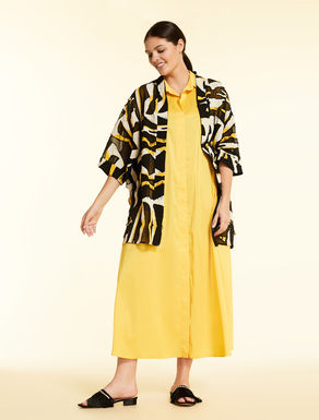 Duster coat in printed devoré