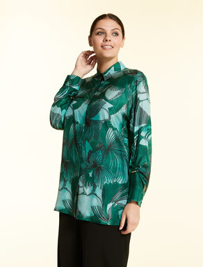 Printed haboutai silk shirt