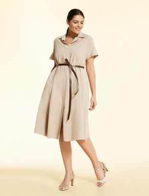 Dress in fluid twill