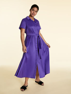 Long, cotton poplin dress