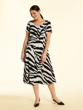 Long crepe di Chine dress