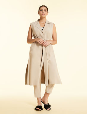 Duster jacket in fluid viscose twill