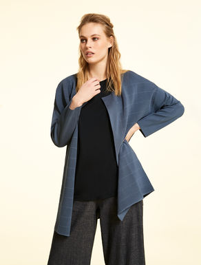 Viscose and nylon cardigan