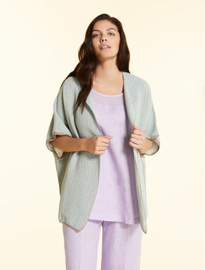 Cardigan in virgolino di cotone