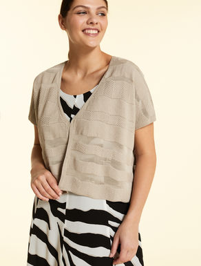 Cotton crepe cardigan