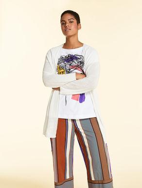 Linen-viscose blend cardigan