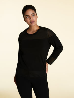 Viscose and nylon sweater