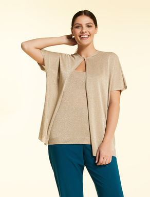 Set with cardigan and top