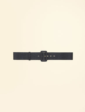 Silk and wool belt