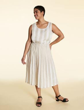 Pure linen skirt