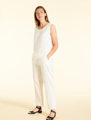 Pantaloni in ramié di cotone