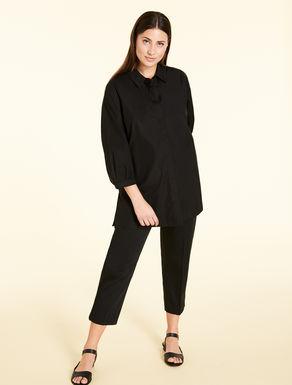 Pantaloni slim fit in raso di cotone