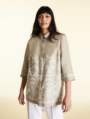 Long, pure linen shirt