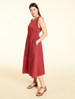 Long dress in cotton and silk