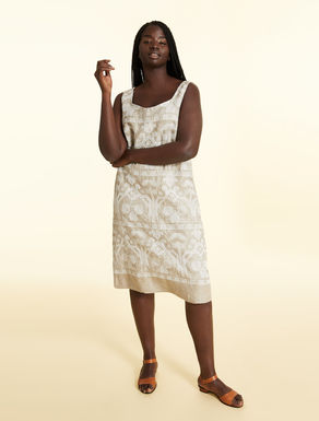 Embroidered dress in pure linen