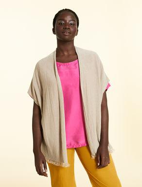 Oversize linen cardigan