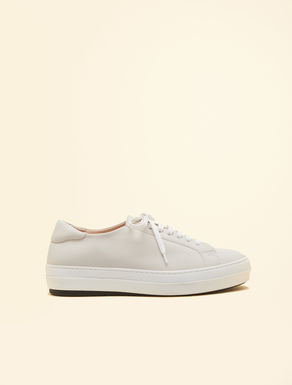 Rubberised fabric sneakers