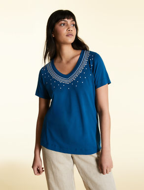 T-shirt in stretch viscose jersey