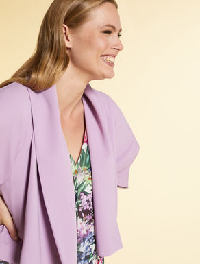 Bolero jacket in fluid fabric