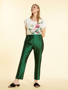 Trousers in light shantung