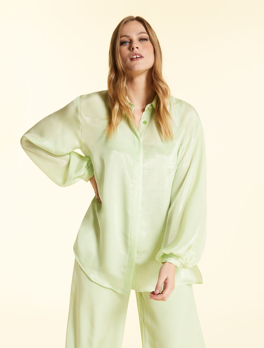 Shirt in lurex silk georgette