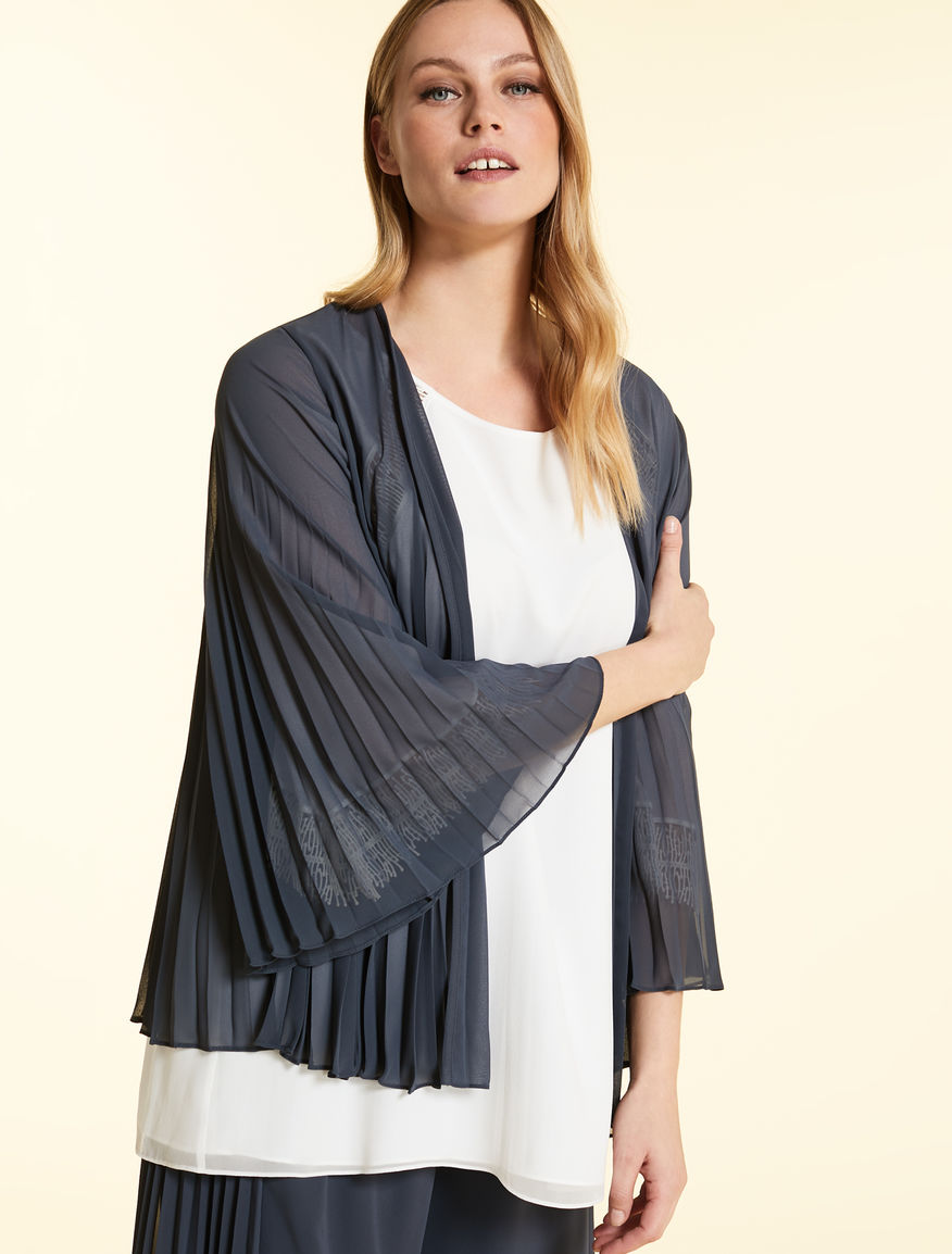 Pleated georgette tunic