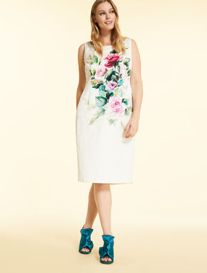 Dress in cotton-viscose brocade