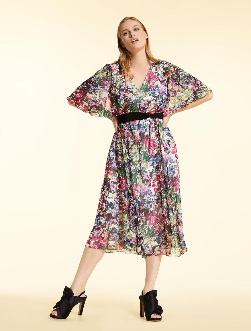 Dress in printed chiffon