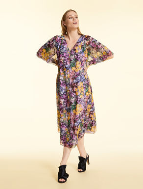 Dress in printed chiffon