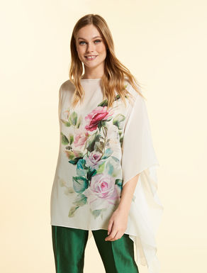 Silk georgette tunic