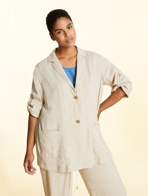 Jacket in viscose and linen