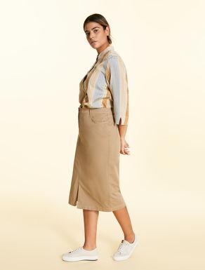 Falda de tubo de gabardina elástica